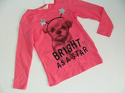 H&M Dog Puppy Pink Top Shirt Girls Girl Size 1 1/2-2 Years NWT NEW Bright Star