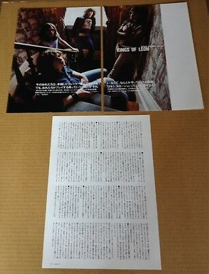 2003 Kings of Leon 4pg 1 photo JAPAN mag article / clippings cuttings