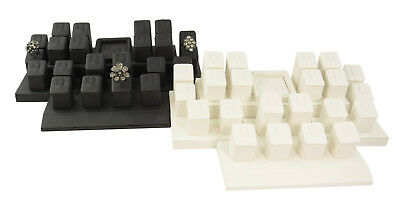 Leatherette 24 Ring Display Set Jewellery Counter Window Ring Display Set