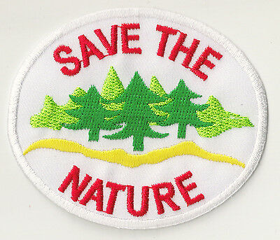 Écusson patche hotfix Save The Nature patch ecolo badge thermocollant