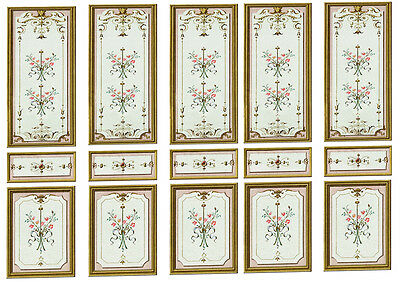 Dolls House Victorian Wall Panels choose from 1/12th or 1/24th scale #02