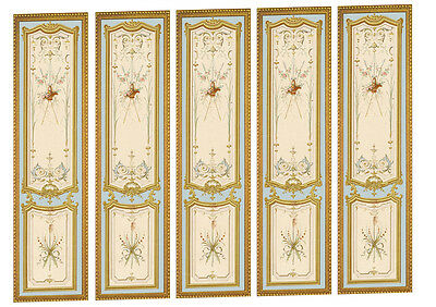 Dolls House Victorian Wall Panels choose from 1/12th or 1/24th scale #04