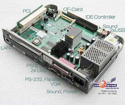 Mini Motherboard FSC tr5670 with Power Supply RS 232 736tr5670f101 FUTRO S300