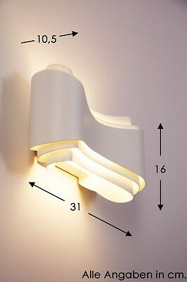 LED Wandleuchte Design Flurlampe Made in Italy Wandlampe weiß Wandstrahler Lampe