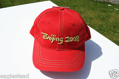 Ball Cap Hat - Beijing 2008 - Olympic Games - Red (H1028)