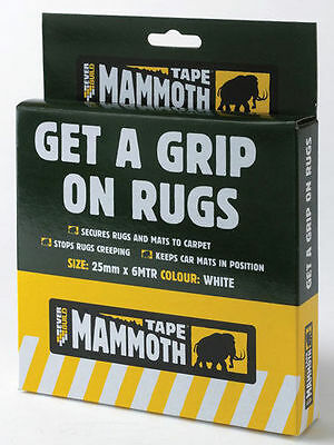 Everbuild Mammoth Tape Get A Grip On Rugs 25mm x 6 Metre Secures Rugs to Carpets