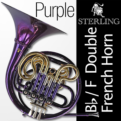GREEN Bb/F Double FRENCH HORN • STERLING Pro Quality • BRAND NEW • With Case •