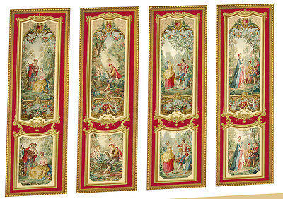Dolls House Victorian Wall Panels choose from 1/12th or 1/24th scale #06