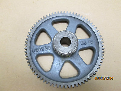 New Other, Boston Nd72 Spur Gear (S1272) 3/4' Plain Bore, 12 Pitch, 72 Teeth.