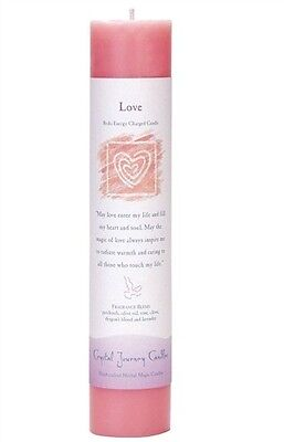 CRYSTAL JOURNEY Magic Reiki Charged Candle LOVE*