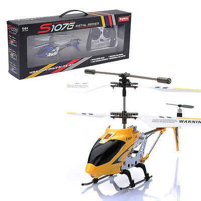 Genuine SYMA S107G 3.5 Channel Metal Remote Control RC Helicopter LED Light GYRO