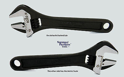 """1pc 8069 R U 4"""" Adjustable Wrench With Scale Bahco Black Finish Industrial Grade"""