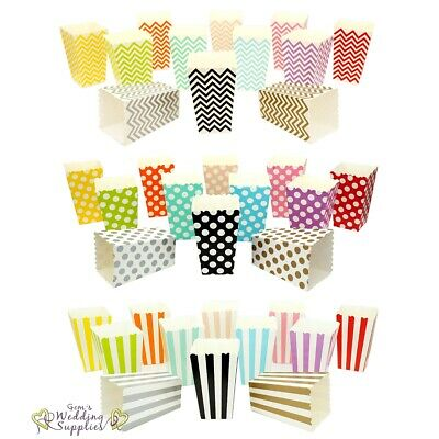 Popcorn Boxes Mini x 12 Wedding Party Favour Lolly Box Retro Cinema Pop Corn