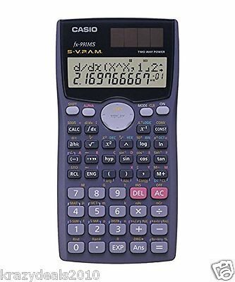 Casio FX-991MS Scientific Calculator Fx 991 MS - FX991MS - 2 Line Display