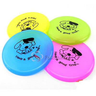Pet Dog Saucer Frisbee Trainning Puppy Toy Plastic Fetch Flying Disc Toys 8""