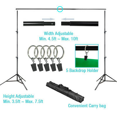 10ft x 8.5 ft Photo Muslin Background Backdrop Support Stand Crossbar Kit Photog