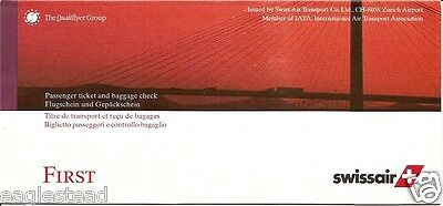 Ticket Jacket - Swissair - First - Cable Supported Bridge - 1999 (J1681)