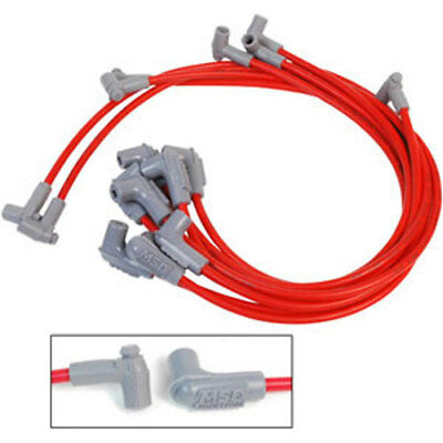msd ignition 31189 red universal 8 5mm spark plug wire set 8 msd ignition 31249 super conductor 8 5mm wires red