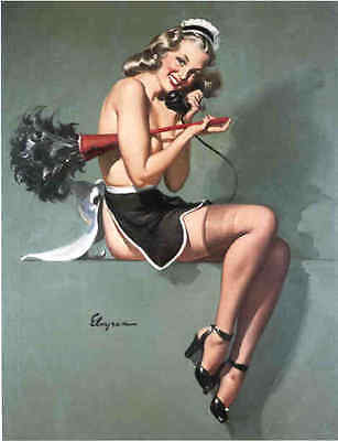 Sale!  French Nylons Deco Elvgren Canvas Pin-Up U Pick1 Pinup Lingerie Stockings