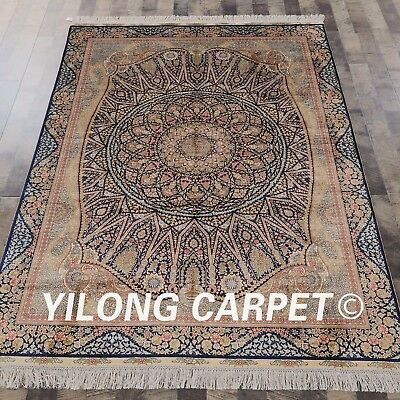 Yilong 5'x7' Handmade Persian Silk Carpets Excellent Traditional Silk Area Rugs