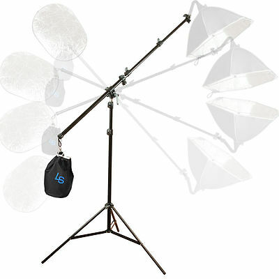 Lusana Studio Photography Arm Bar Lighting Boom Stand Kit Light Stand Adjustable