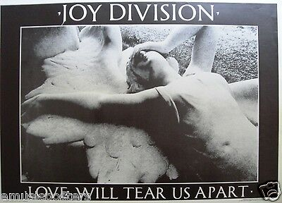 """JOY DIVISION """"LOVE WILL TEAR US APART"""" U.K. COMMERCIAL POSTER - Ian Curtis, Punk"""