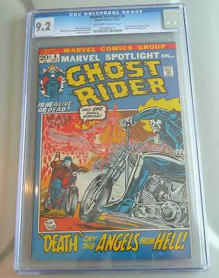 Marvel Spotlight # 6  2nd Ghost Rider - grade 9.2 super scarce hot book !!