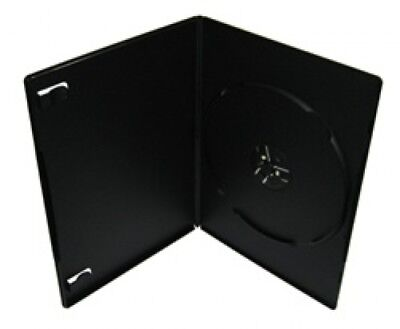 100 PREMIUM SLIM Black Single DVD Cases 7MM (100% New Material)