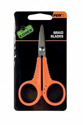 Fox Edges Braid Blades Micro Scissors Schere für Karpfenvorfach Schnur