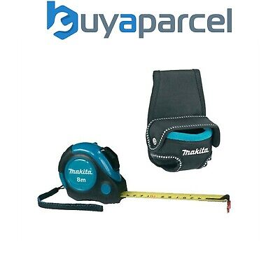 Makita P-73003 Autolock Measuring Tape Measure 8m Metres + P-71831 Tape Holder