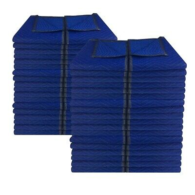 "72 Economy Moving Blankets 72x80"" 43# Professional Quilted Storage Blanket"