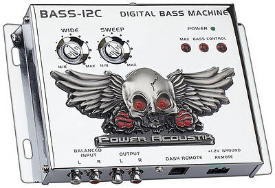 Bass Driver Chrome;remote;illuminated Power Acoustik Bass12c Signal Processors