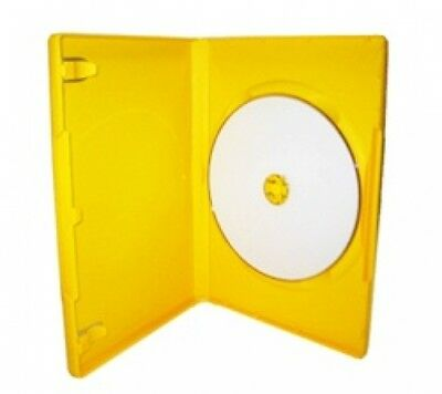 100 STANDARD Solid Yellow Color Single DVD Cases
