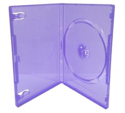 50 STANDARD Clear Purple Color Single DVD Cases