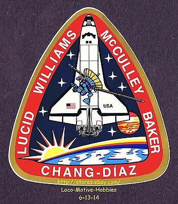 LMH STICKER Badge NASA STS-34 SPACE SHUTTLE Atlantis 1989 Mission Crew Insignia