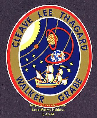 LMH STICKER Badge NASA STS-30 SPACE SHUTTLE Atlantis 1989 Mission Crew Insignia