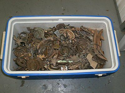 Ice Cooler Filled W 100's Pieces Antique Draw Pulls