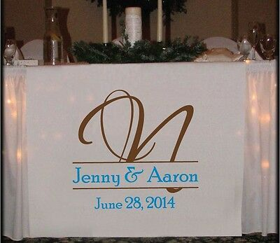Custom Personalized Table Runner for your Wedding or Event - Any design you like