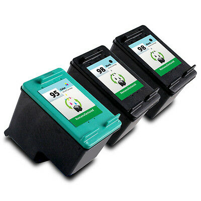 3PK HP 98 95 Ink Cartridge C9364WN C8766WN for OfficeJet H470 100 150 6310 6310v