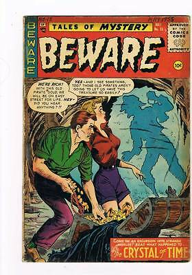 Beware # 15  The Crystal of Time !  grade 2.0 Scarce Hot Book!!