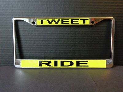 TWEETY BIRD LICENSE PLATE FRAME TWEET RIDE  DESIGN