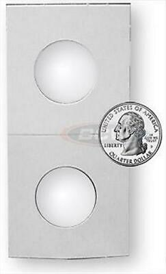 Case of 5000 BCW 2 x 2 Quarter Size 2x2 Cardboard Coin Flips paper holders