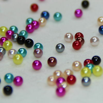12pc 4mm Pearl Beads Floating Charms Mix color For Floating Glass Locket/pendant