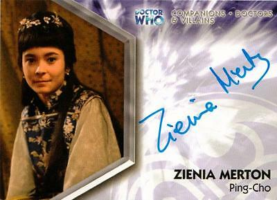 Dr Doctor Who Trilogy Auto Card DWT-A10 Zienia Merton as Ping-Cho