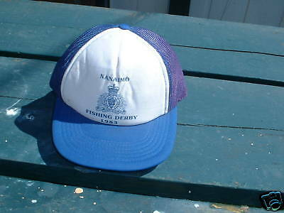 Ball Cap Hat - RCMP - Police - Nanaimo BC Fishing Derby - 1983 (H421)