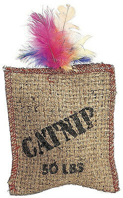 Ethical Spot Catnip Sack Burlap With Feather 1 Pack Kitten Cat Toy Free Ship Usa