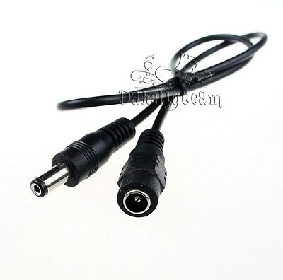 1-50 pcs 50cm 5.5x2.1mm DC Power Connect Cable Extension Wire Male to Female