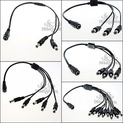 5.5x2.1mm CCTV Camera DC Power Splitter Cable Connect Extension Wire 40cm