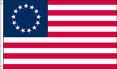2 PACK - 3x5 FT POLYESTER US AMERICAN BETSY ROSS 13 STAR USA HISTORIC FLAG