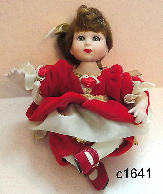 Marie Osmond Disney Baby Christmas Belle Tiny Tot Porcelain Doll Hard to Find